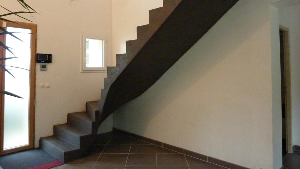 Revetement Escalier Beton Interieur. Beautiful Habillage De
